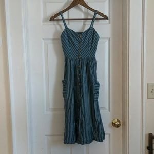 Cooperative Button-Front Dress